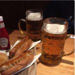 Hotdogs and beer