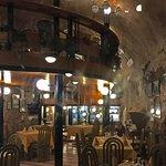 Attractive interior with pleasing atmosphere enjoying terrific food.