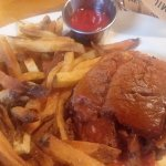 BBQ Brisket Sandwich with French Fries...