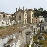 The large cemetary outside the monestary