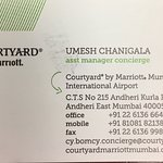 Great hotel.  Amazing service. The Asst manager of the Concierge, Mr. Umesh Chanigala, was extra