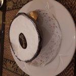 Coconut ice cream, in a half coconut