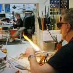 Nic and Eileen in our art glass studio