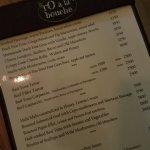 Glance at the menu