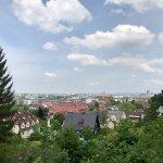 Blick über Freiburg aus Nähe Schloß-Café