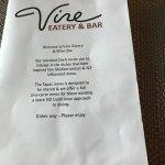 opening menu