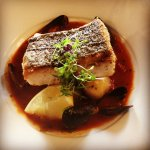 Catch of the Day, Pan fried Hake in a Tomato Broth with Baby Potatoes and Mussels... Food Goals