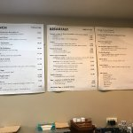 menu on wall