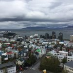 View of Reykjavik from the top of the church