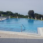 Swimmig pool. There is a smaller one next to it for children