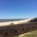 Looking out to sea from the top of Fort Clinch