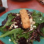 cashew encrusted salmon with salad