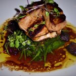 Seared ahi and hudson valley foie gras. GET THIS!