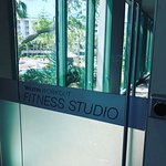 Not huge, but sufficient fitness center