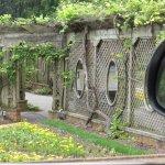 Walled garden arbor