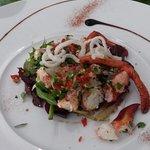 Entrée (homard en salade)