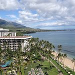 View fro 12th balcony Lahaina Tower end unit