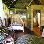 casita with queen bed and bunk bed