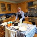 Steve, our host, preparing breakfast for us