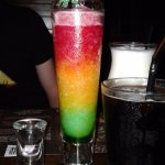 Adult Traffic Light cocktail with Vodka