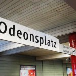 The U Bahn Station at this famous Munich Square (18/May/17).