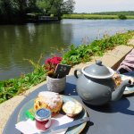 Cream Tea by the River - St. Ives, Cambridgeshire (22/May/17).