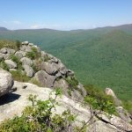 At the summit of Old Rag Mountain, Shenandoah National Park, Virginia