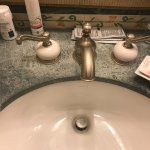Discolored sink