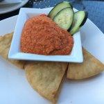 Delicious hummus plate
