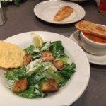 Chicken Caesar Salad and Tomato Soup