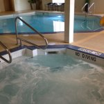 Pool, waterslide and hot tub