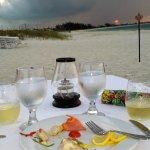 Dinner oceanside exquisite taste at sunset!