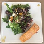 Greens and Grains Salad with Salmon