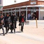 gunfighter walking down Allen street