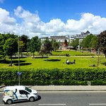 Looking out to Eyre Square