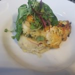 Gluten free grouper with mashed potatoes