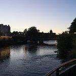 Riverside Walk at dusk looking toward the Catherdral