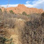 Scenic view of the red rocks.