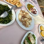 a seaside lunch at Delfinia