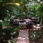 Perfect spot for high tea in the hotel garden