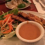 Pho Ga and chicken satay