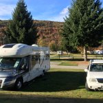 Powered site. Motorhome and Car are ours!!