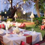 Our Riverside lawn is available for cocktail parties for 200 or dinner for 150 guests.