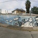 mural outside La Chascona Casa Museo