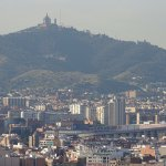 View of Tibidabo and Camp Nou