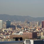 City with Sagrada Familia