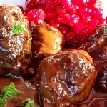 Lingonberry caviar foro meatballs - heavenly!