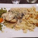 filet mignon de veau légumes et spatzlé