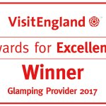 VisitEngland Winner - Awarded Best Glamping Accommodation in England!