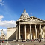 The Pantheon with Saint Etienne du Mont in the background